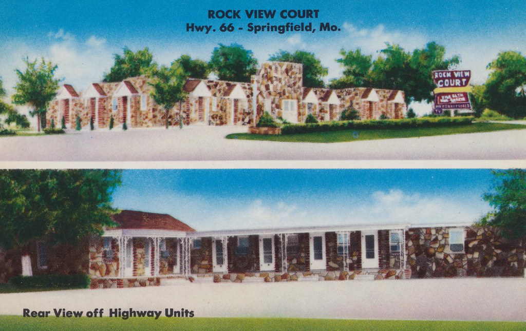 the cardboard america motel archive rock view court. Black Bedroom Furniture Sets. Home Design Ideas