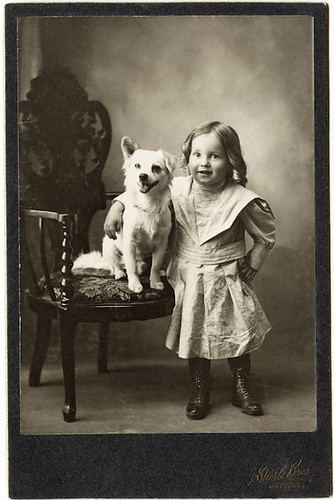 Cabinet Portrait of a Young Girl and Her Dog | by AtypicalArt