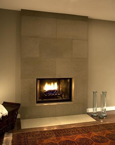 Cast Concrete Tiled Fireplace In Portobello For More Infor Flickr