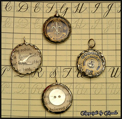 Soldered watch crystal charms | by Boxwoodcottage