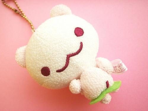 kawaii cute mini sanx character momo panda mascot keychai