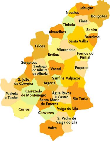 valpaços mapa Concelho de Valpaços | Mapa das freguesias | Jorge Bastos | Flickr valpaços mapa