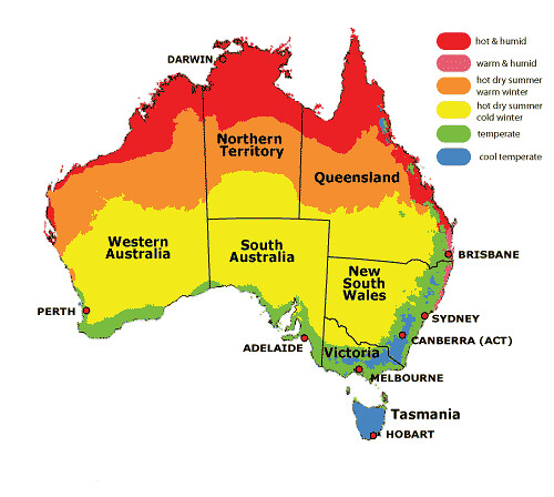 Australia Climate Zones Map Flickr
