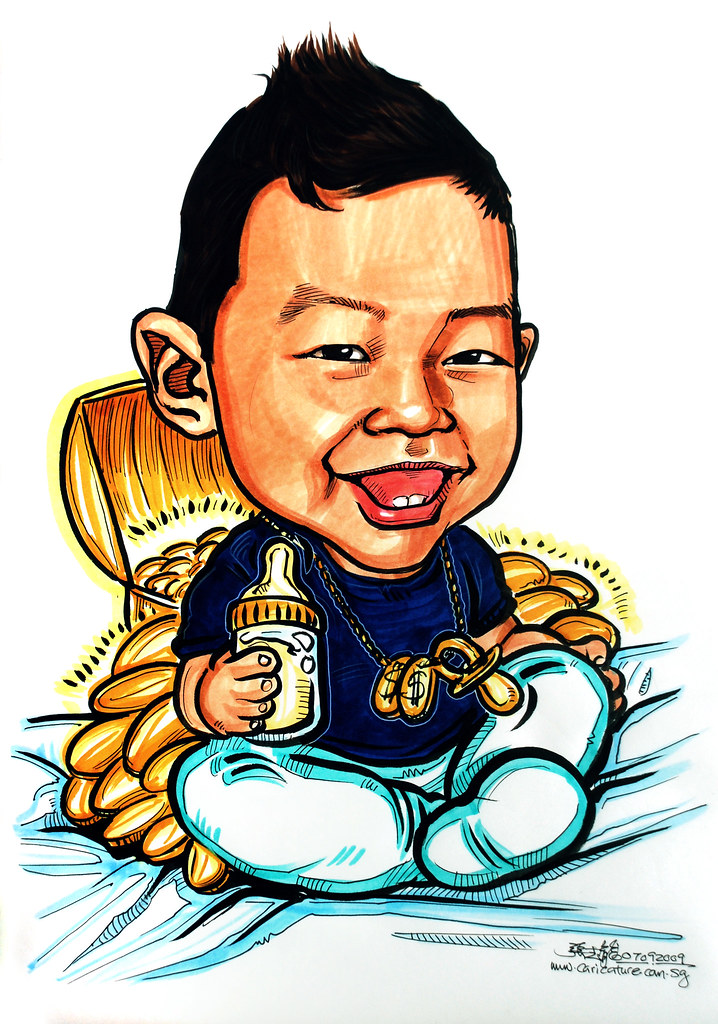 caricature of a rich baby website wwwportraitworkshop