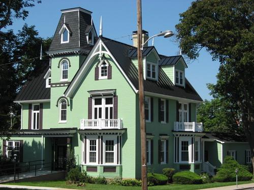 Lime Green House Black Trim Fairwitness Flickr