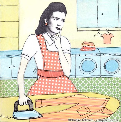 ironing_illo_friday | by claudinehellmuth