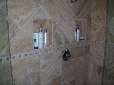 Custom Tile Shower Wall Cutouts For Soaps And Shampoos