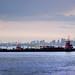 2 tugs, giant barge