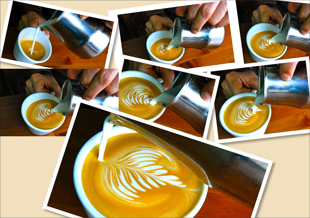 Image result for coffee art step by step