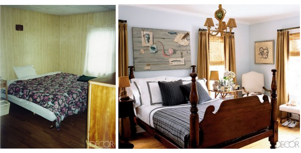 Bedroom makeover blue brown hamptons style from elle d for Bedroom ideas hamptons