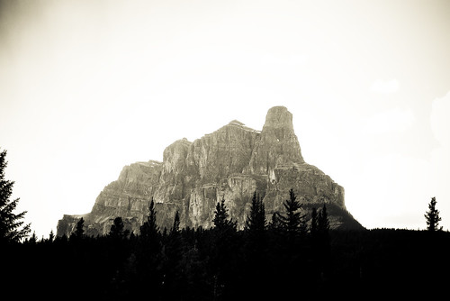Castle Mountain - Vintage, Banff National Park | by studio martin lussier