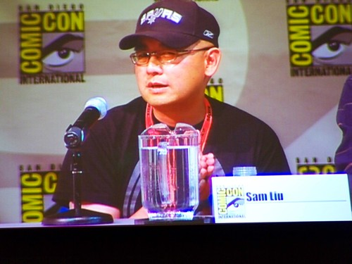 Director Sam Liu at the Superman/Batman: Public Enemies panel at the DC Animation panel at San Diego Comic-Con International | by Castles, Capes & Clones