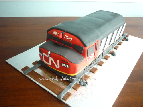 Cn Train Cake Retirement Cake For Someone Who Works From
