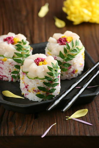 Flower Sushi Rice Sushi Vinegar Pickled Chrysanthemum