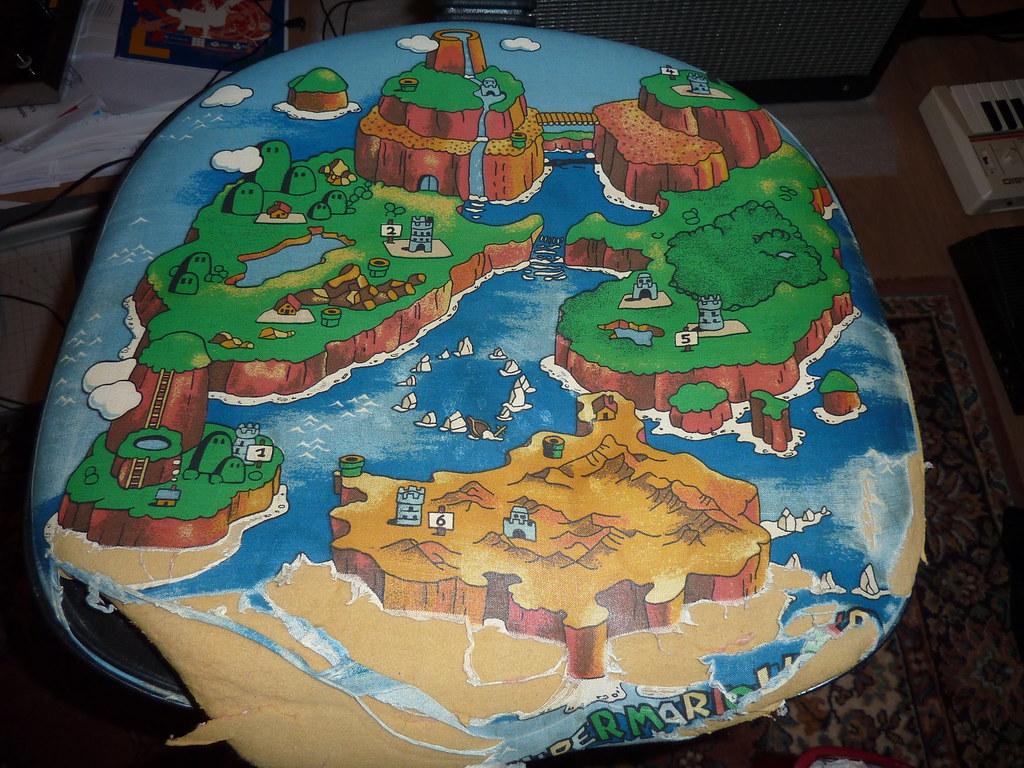 Nintendo super mario world game chair bottom map cushion flickr nintendo super mario world game chair bottom map cushion by cas7scape gumiabroncs Image collections