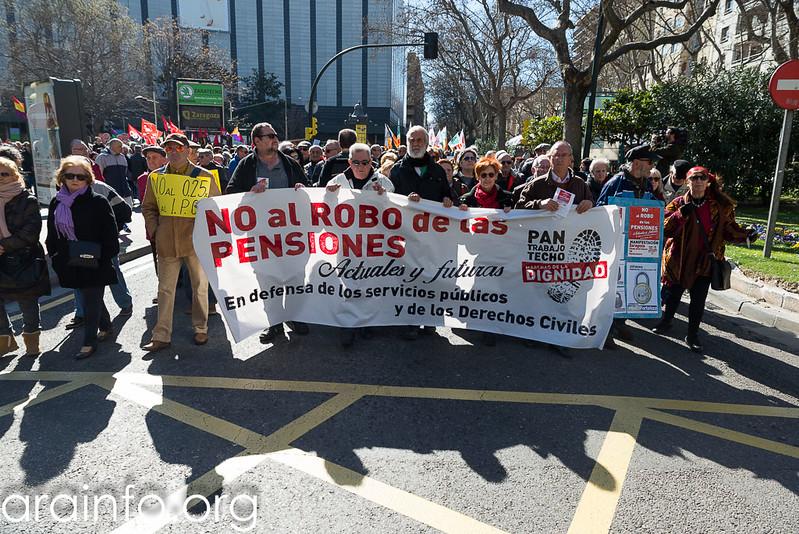 """Manifestación Marchas por la Dignidad """"No al robo de las pensiones"""""""