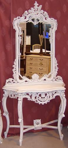 Tocador luis xv consola con espejo luis xv sabrina - Tocador con espejo ...