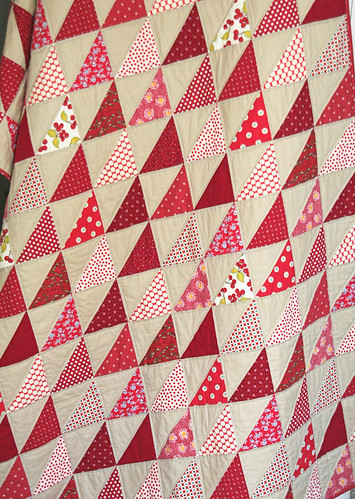 Red Triangle Quilt | by cluckclucksew