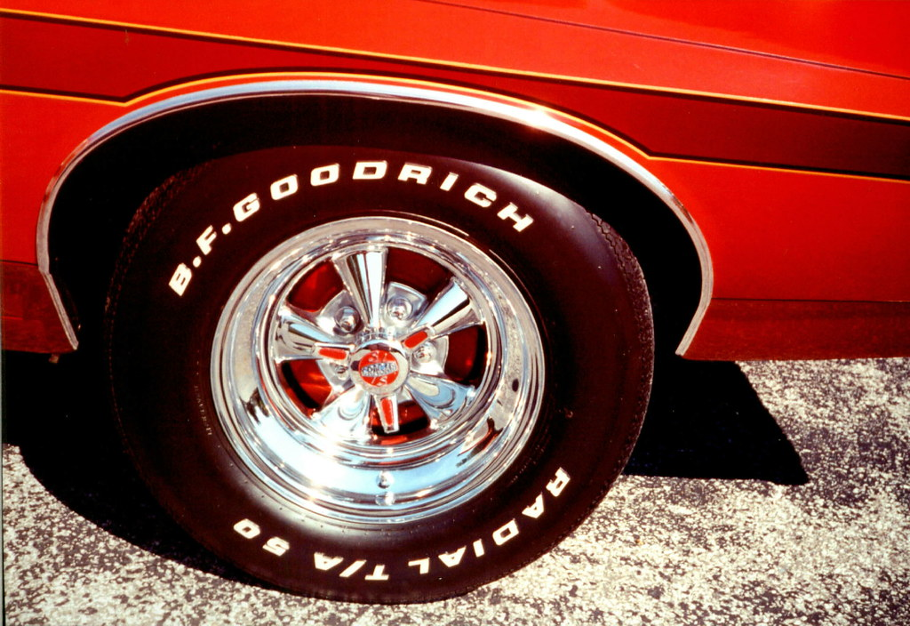 1972 Gran Torino,rear Cragar S/S wheels,B.F.Goodrich Radia ...