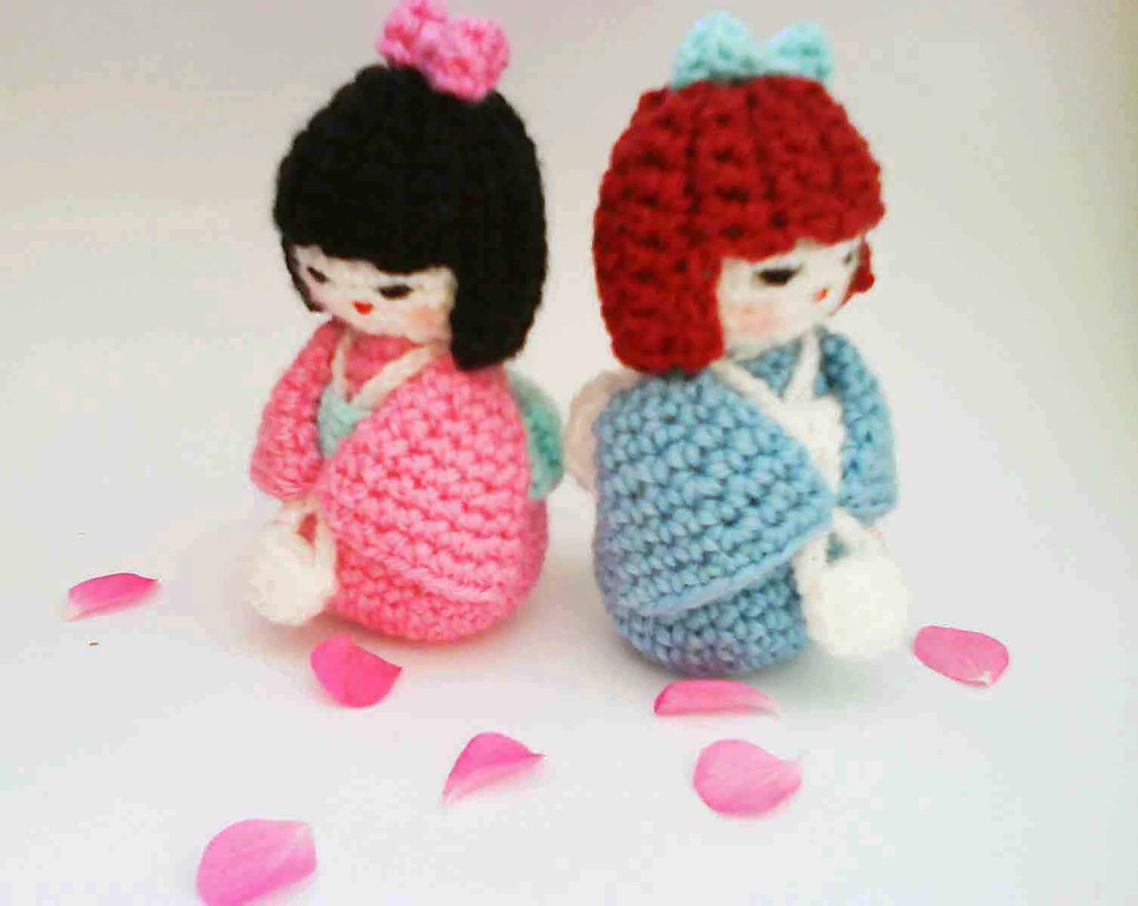 Amigurumi Crochet Pattern : Japanese kokeshi girl doll amigurumi crochet pattern flickr