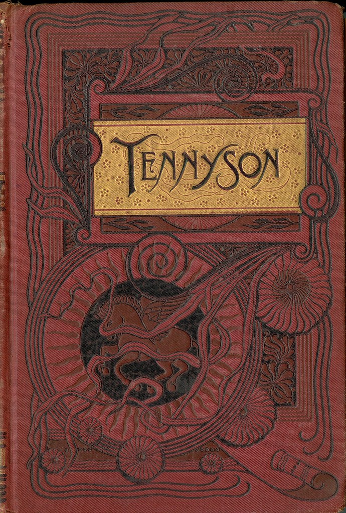 Book Cover Vintage Quotes : Tennyson cover of the complete works alfred