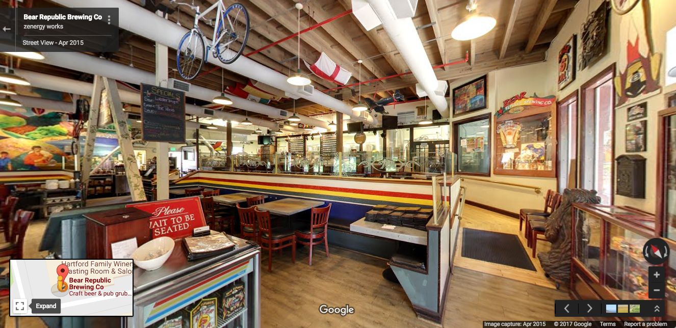 Google Street View of Bear Republic Brewing Co.