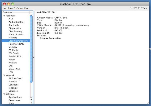 Intel gma 3100