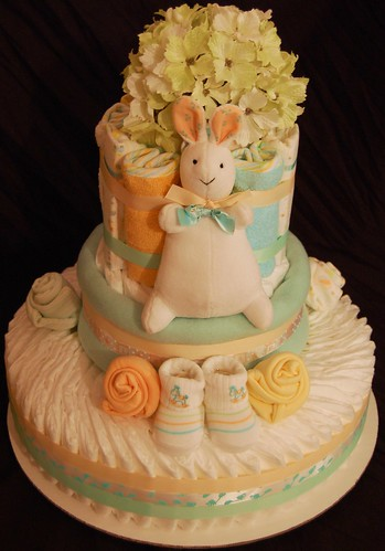 Pat The Bunny Diaper Cake 74 Pampers Swaddlers 5
