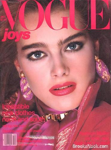 vogue december 1980 cover brooke shields vogue