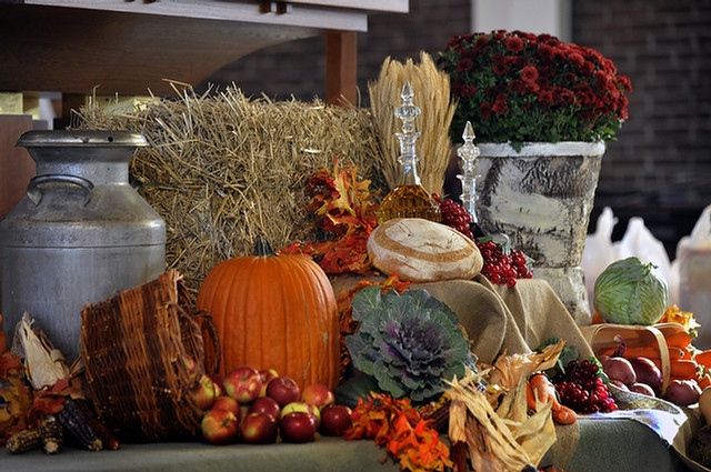 Church decorations - Fall, Thanksgiving | Church ...