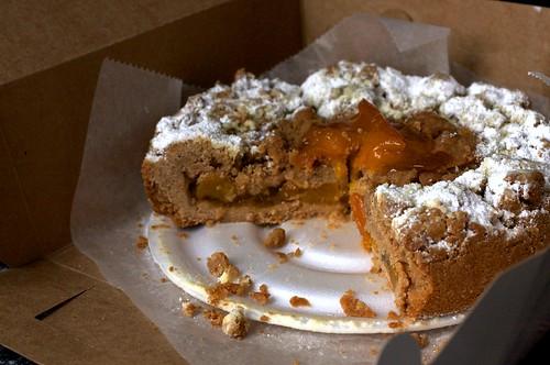 Peach Crumb Cake In Round Pan