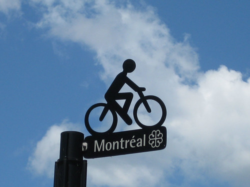 bike path sign | by alanah.montreal