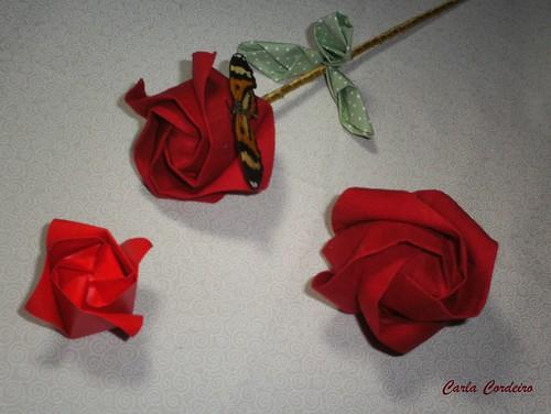 bot o de rosa em tecido e origami amp pap vida simples 172