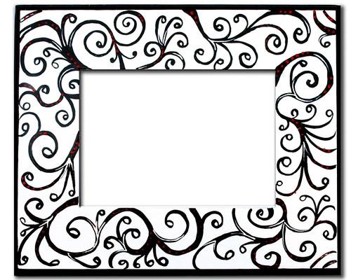Black Scroll Frame   Kinda cool, don\'t you think?   Rusti Lee Arts ...