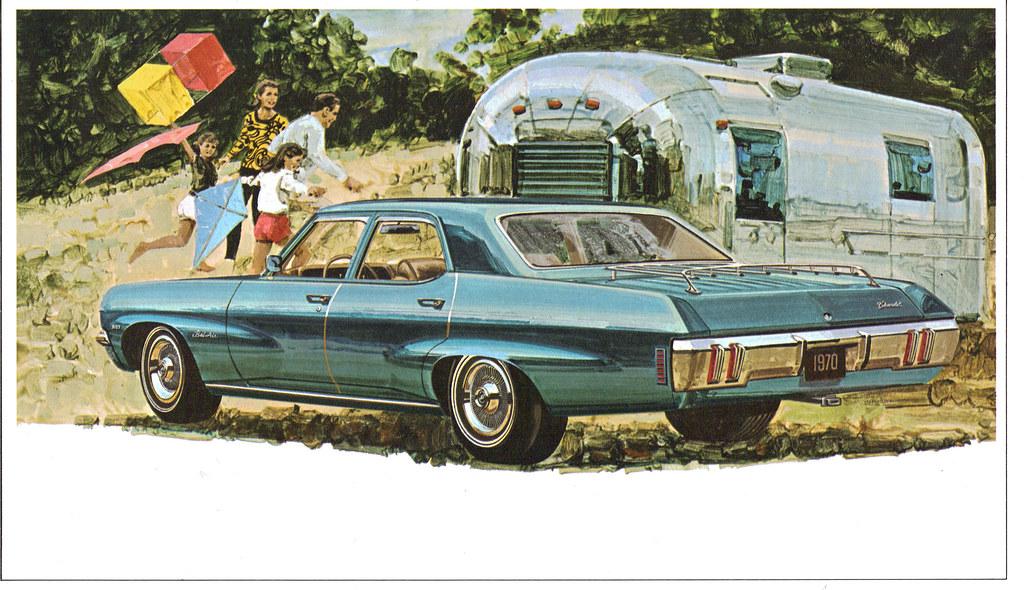 1970 Chevrolet Bel Air 4 Door Sedan Amp Airstream Trailer