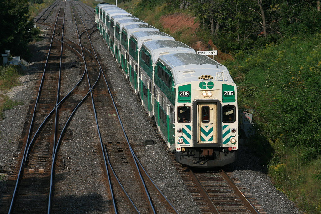 Car With Road >> GO Bombardier Bi-level cab car in Bayview Junction   Flickr