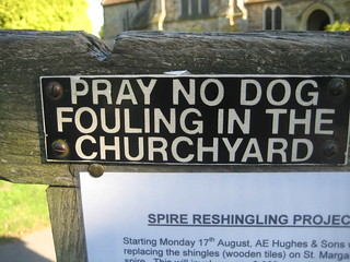 pray no dog fouling in the churchyard | by scottjlowe