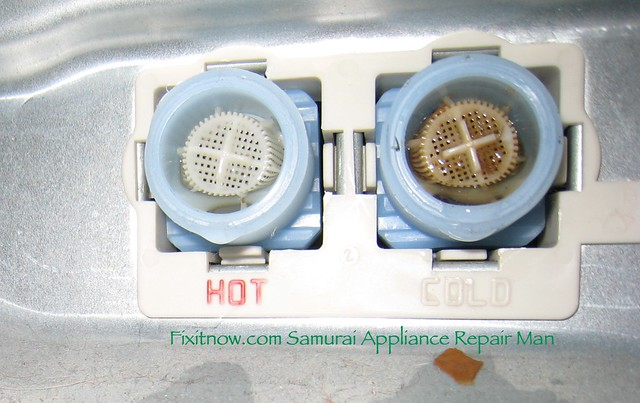 Water Inlet Valve Connections On A Frigidaire Affinity