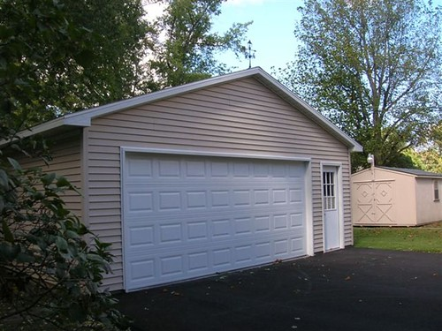 24x24 garage 24 x 24 garage with hardi plank and entry for Cost of a 24x24 garage