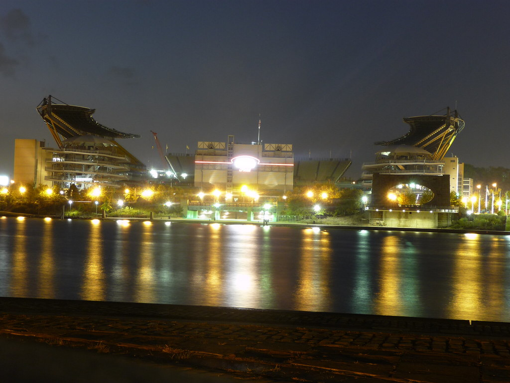 Heinz Field At Night 15 Second Exposure From Point State