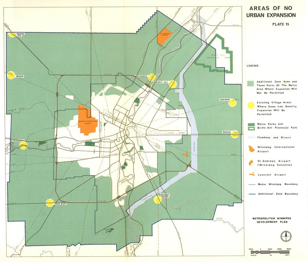 Winnipeg Areas of No Urban Expansion 1966 Winnipeg Plann Flickr