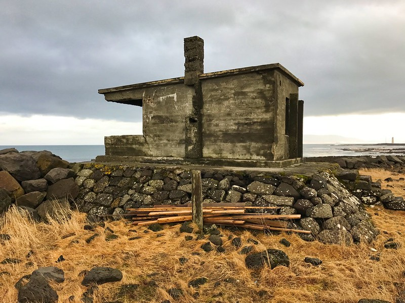 Old hut on peninsula