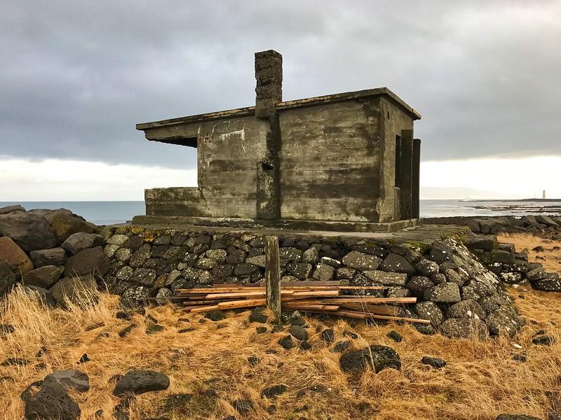 Old hut on peninsula