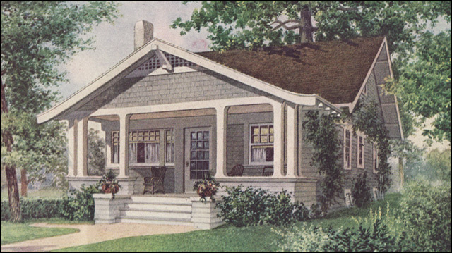 1912 ladies home journal bungalow ladies home journal for New american style house plans