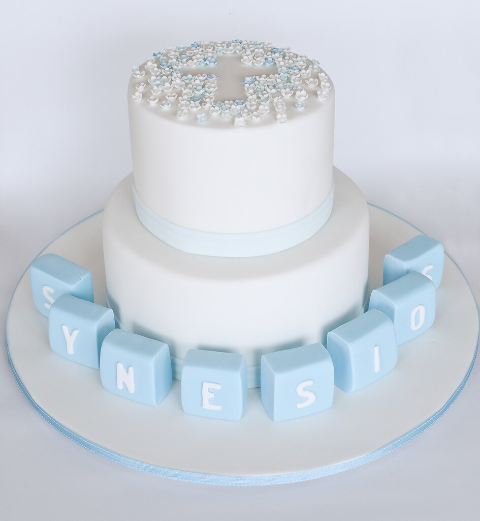 Fondant Cake Designs For Baptism