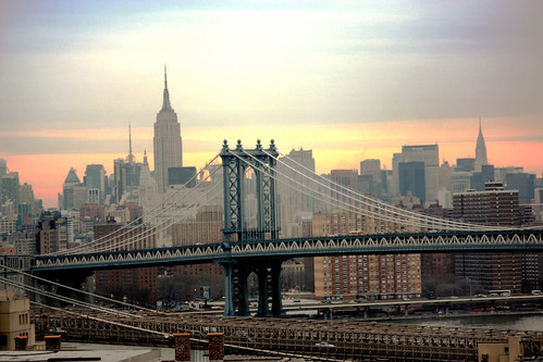 Manhattan Bridge and the Brooklyn Bridge