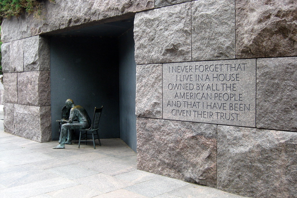 Washington Dc Fdr Memorial 2nd Term Fireside Chat