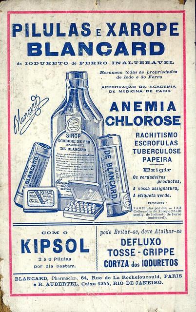 Almanaque Bertrand, 1934 - Blancard medicine back cover
