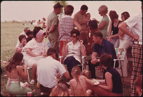 Miners and Their Families Gather to Talk and Enjoy the Outing at the Tennessee Consolidated Coal Company First Annual Picnic at a Tennessee Valley Authority Lake near Jasper and Chattanooga, Tennessee 08/1974 | by The U.S. National Archives