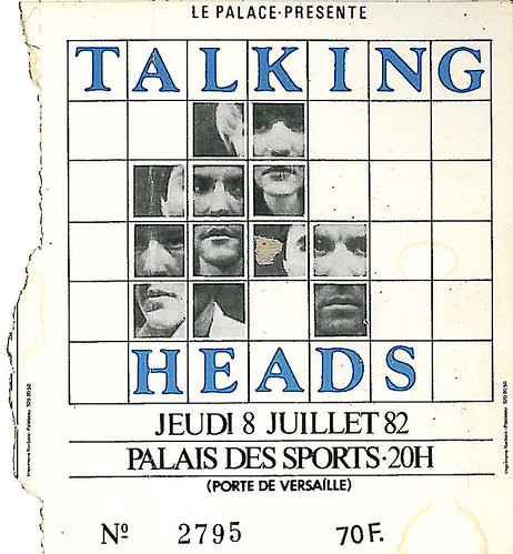 Ticket concert 1982, Talking heads | by ollografik